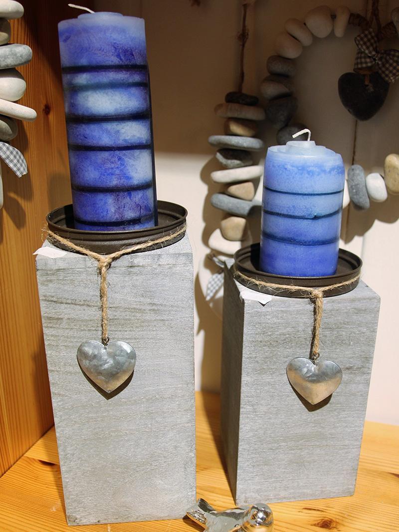 Kleine Kunststube - Kerzenständer mit Wickelkerzen