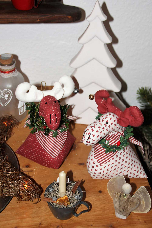 Kleine Kunststube - Kunstgewerbe - Elchpaar rot