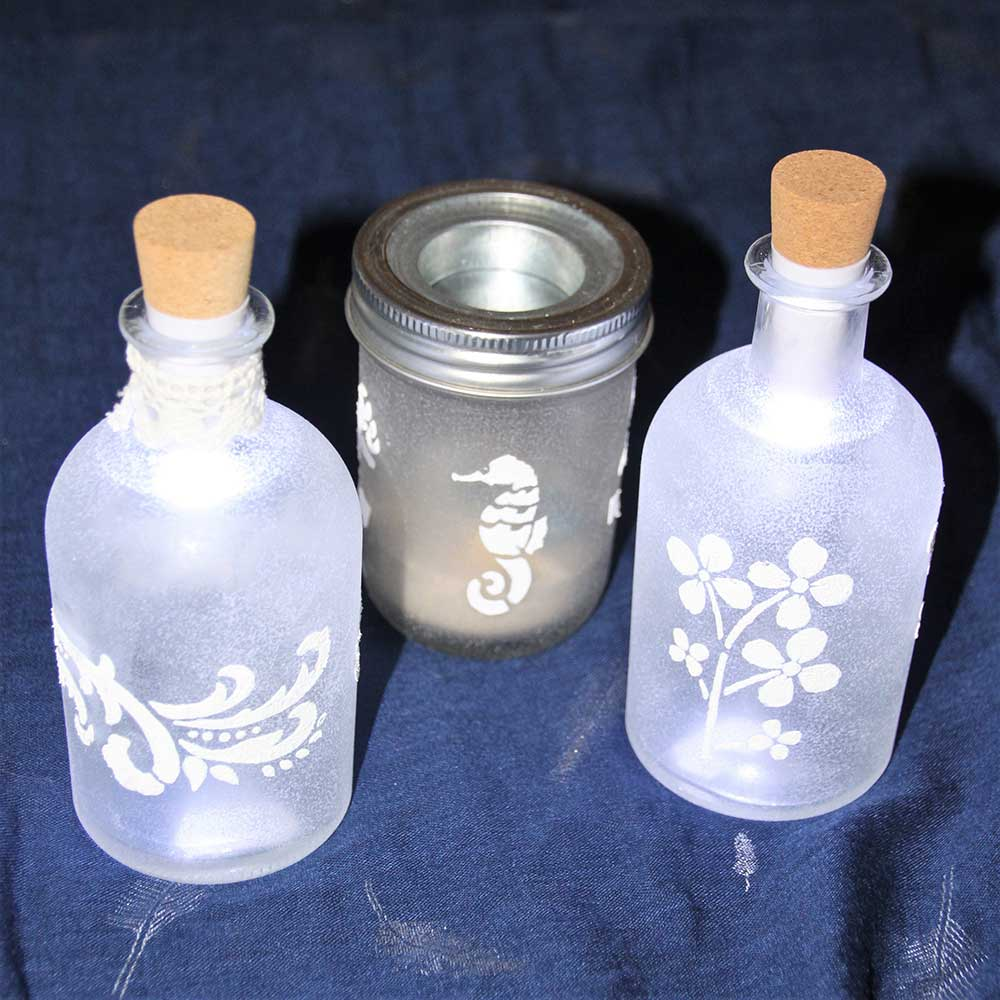 Kleine Kunststube - Kunstgewerbe - Flaschenlicht