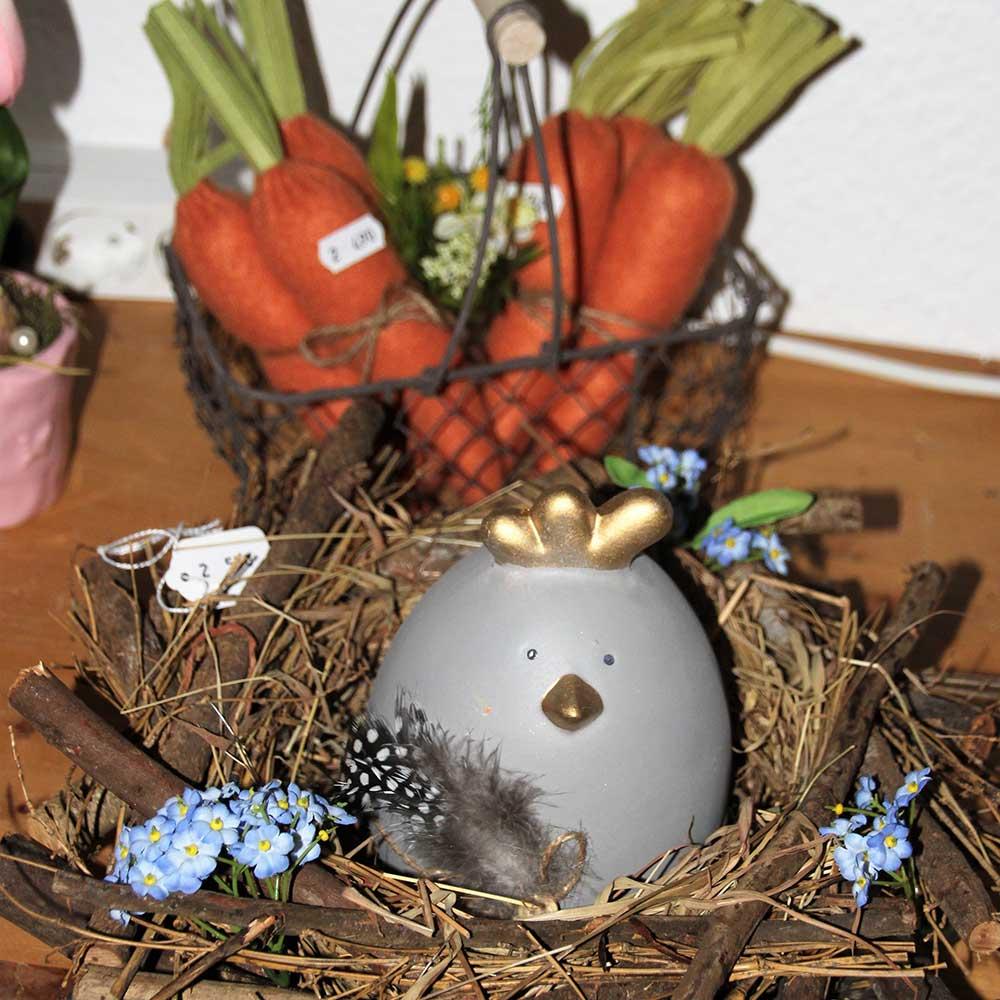 Kleine Kunststube - Kunstgewerbe - Huhn im Nest