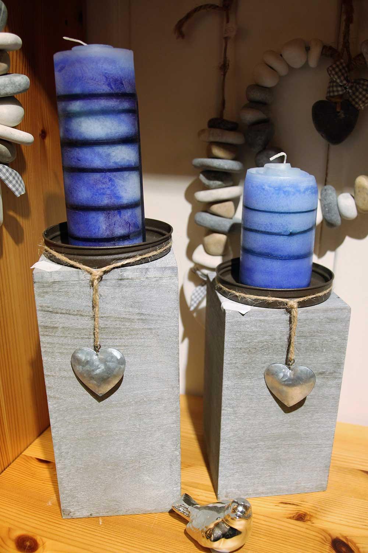 Kleine Kunststube - Kunstgewerbe - Kerzenständer mit Wickelkerze