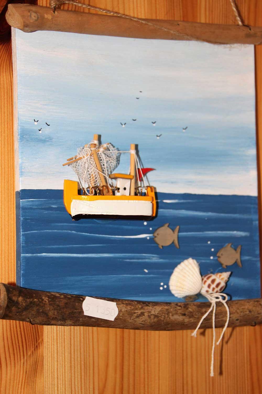 Kleine Kunststube - Kunstgewerbe - Krabbenkutterbild