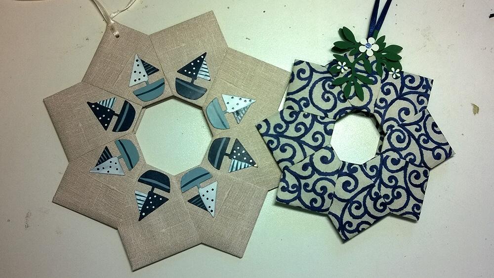 Kleine Kunststube - Kunstgewerbe - Papierkränze